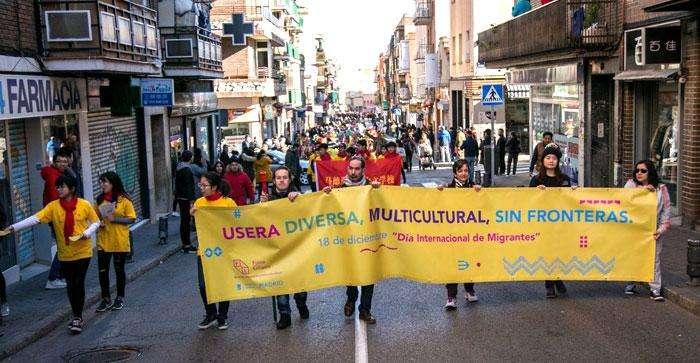 স্পেনের মাদ্রিদের শহরতলি ইউসেরায় ২০১৭ সালে আন্তর্জাতিক অভিবাসী দিবস উদযাপন