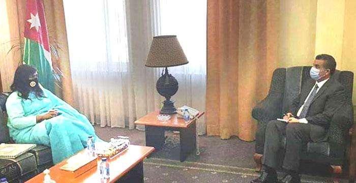জর্দানের নতুন পররাষ্ট্র সচিব ড. ইউসেফ বাতাইনের সাথে সৌজন্য সাক্ষাৎ করেছেন বাংলাদেশের রাষ্ট্রদূত নাহিদা সোবহান